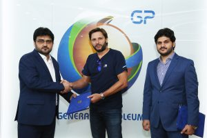Shahid Afridi visit to GP Head Office