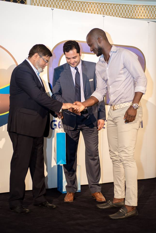 GP Lubricant gift for Darren Sammy