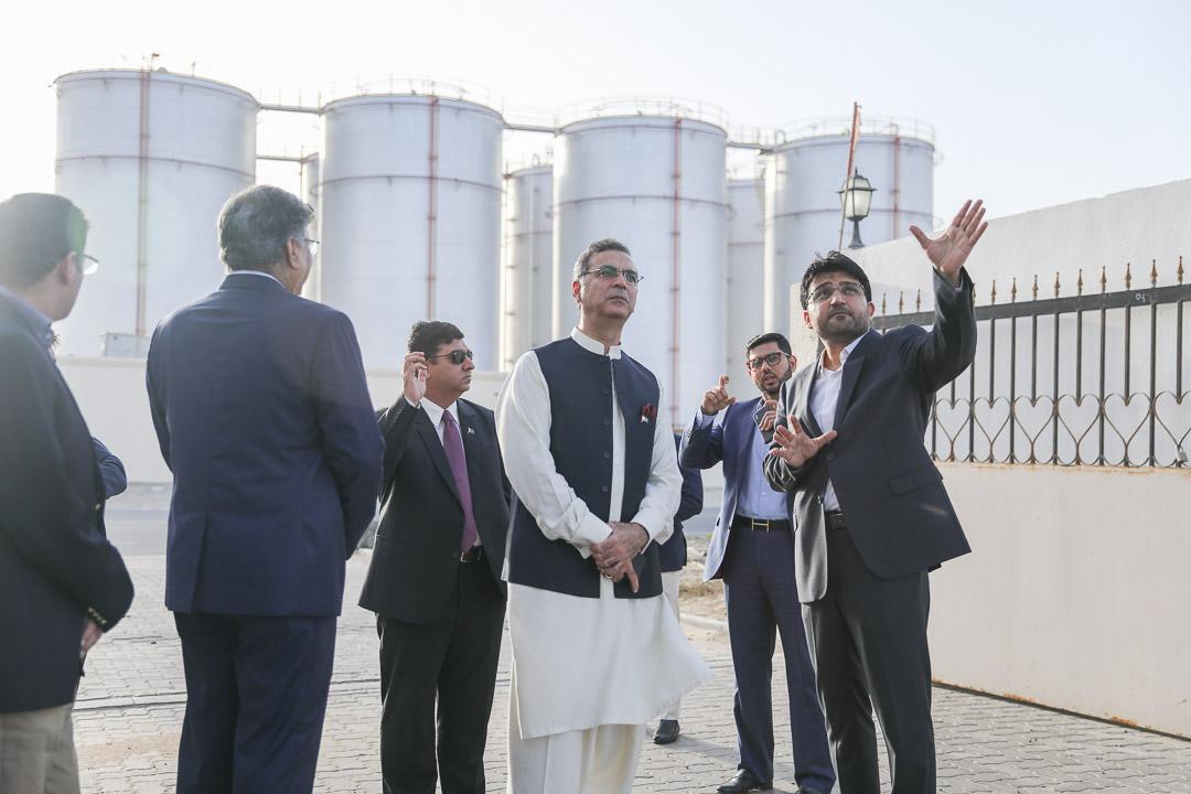 Habib Khan presenting new storage terminal